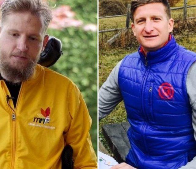 """Dorin Goian și Mihai Neșu, donație către campania """"1cm de autostradă"""" și pentru o familie amărâtă cu mulți copii din Suceava"""